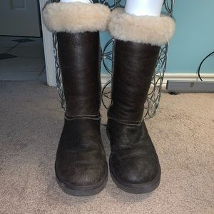 UGG Australia Tall Leather Bomber Boots